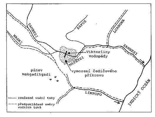 Viktoriiny vodopády - schéma
