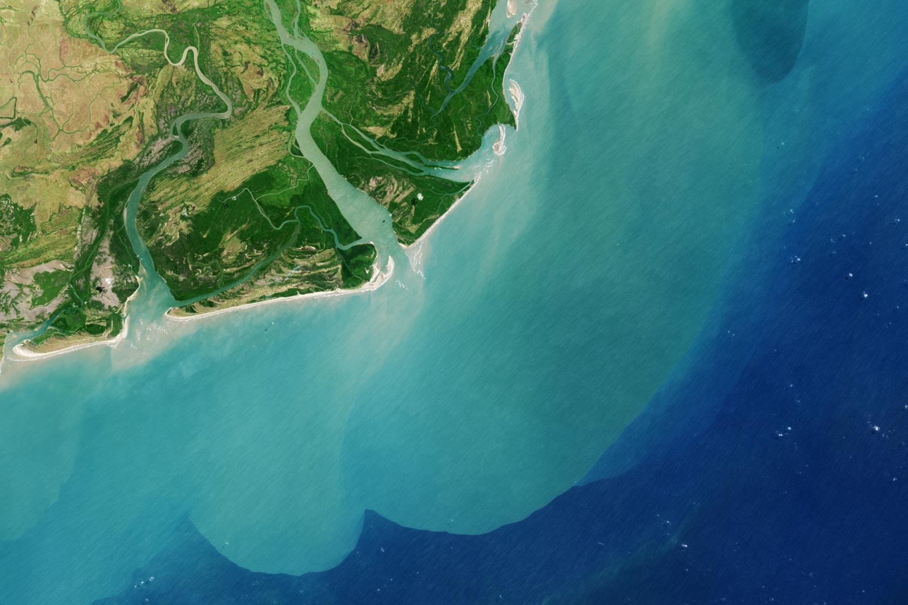 Delta Zambezi (ústí do Indického oceánu), NASA