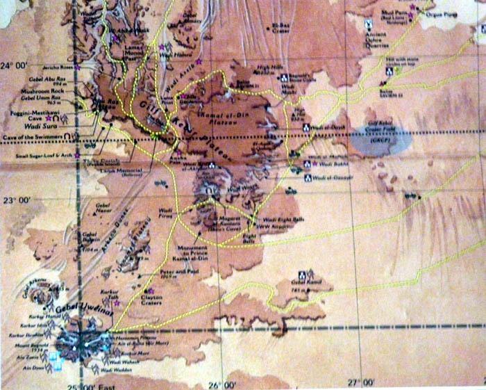 Mapa Uweinatu a okolí