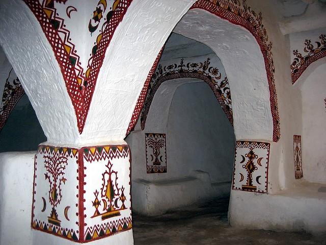 Ghadames - mešita a její výzdoba; Autor David Stanley (flickr.com)