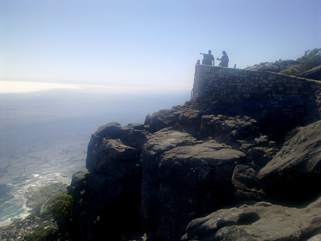 Na vrcholu Table mountain, Cape Town, Jižní Afrika