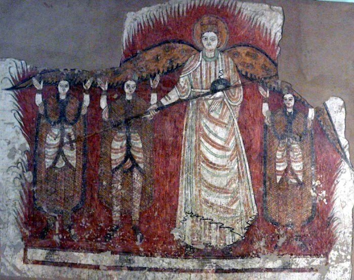 Freska Faras - pekelná brána