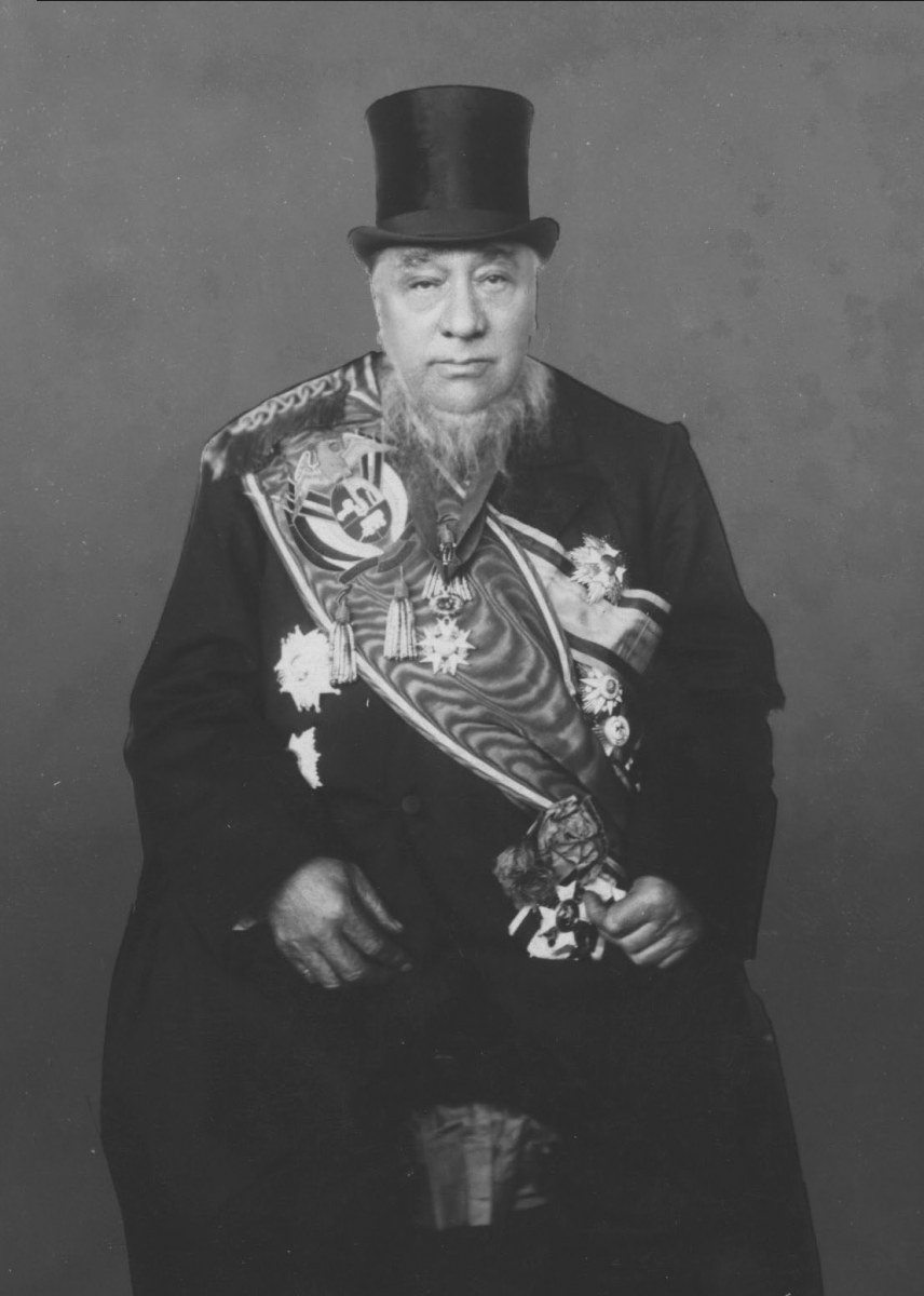 State President Paul Kruger at his inauguration in 1898