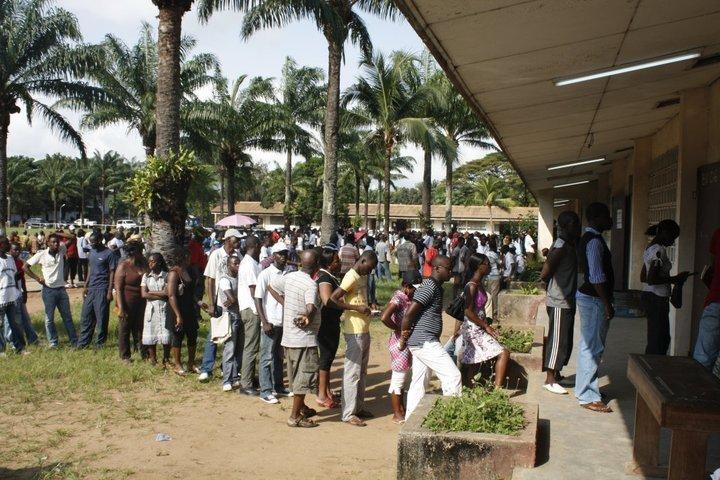 volební místo, Abidjan, Pobřeží Slonoviny