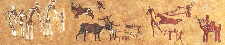 Skalní kresby v pohoří Tassili