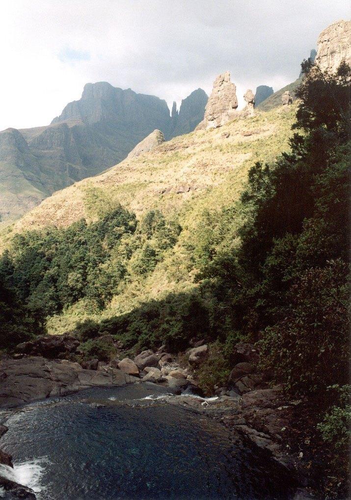 Drakensberg - Dračí hory - u vodopádů Tugela (Thukela)