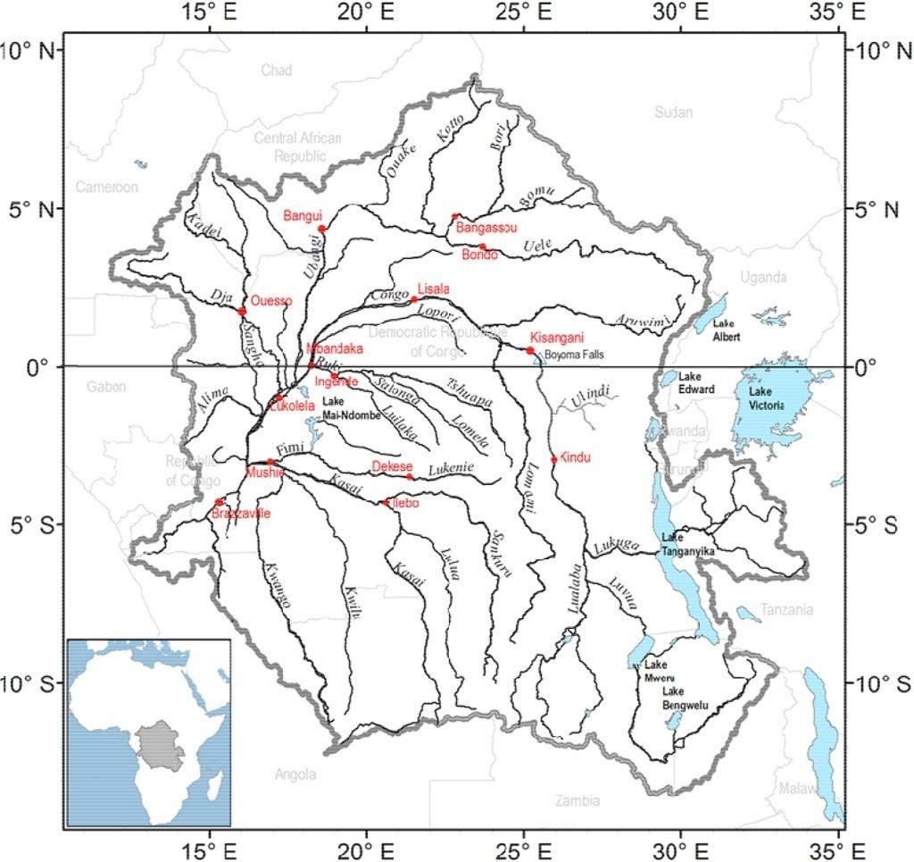 Kongo povodí a hlavní toky
