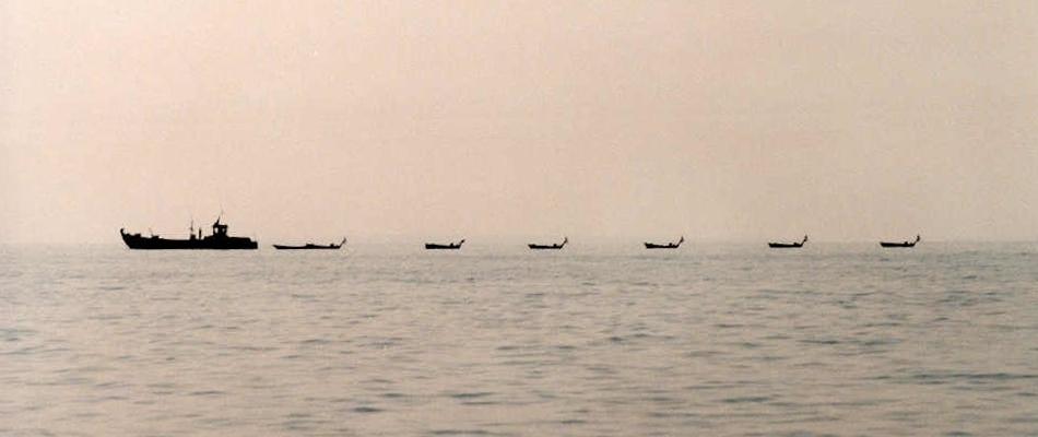Jezero Tanganika (Tanganyika) - rybářské lodě