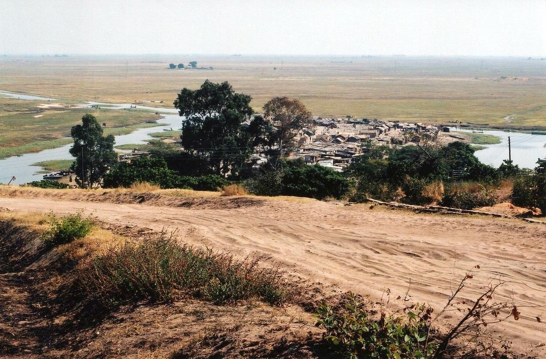 Město a přístav Mongu na řece Zambezi, Zambie