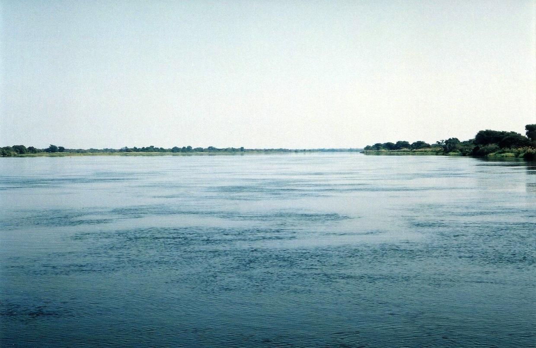Řeka Zambezi nad Viktoriinými vodopády