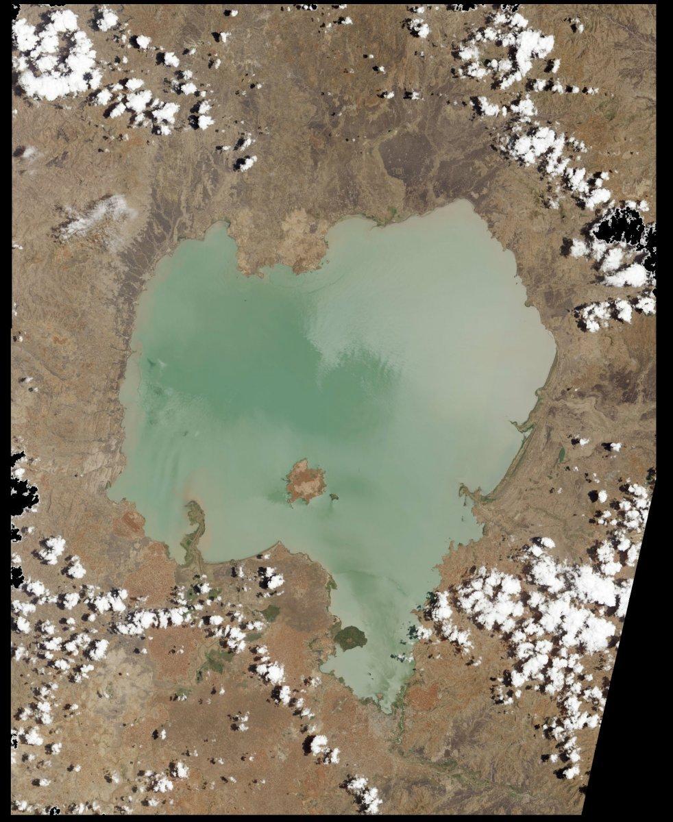 jezero Tana - Lake Tana - satelitní snímek