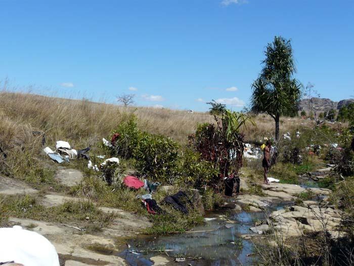 praní pradla, Ranohira, Madagaskar
