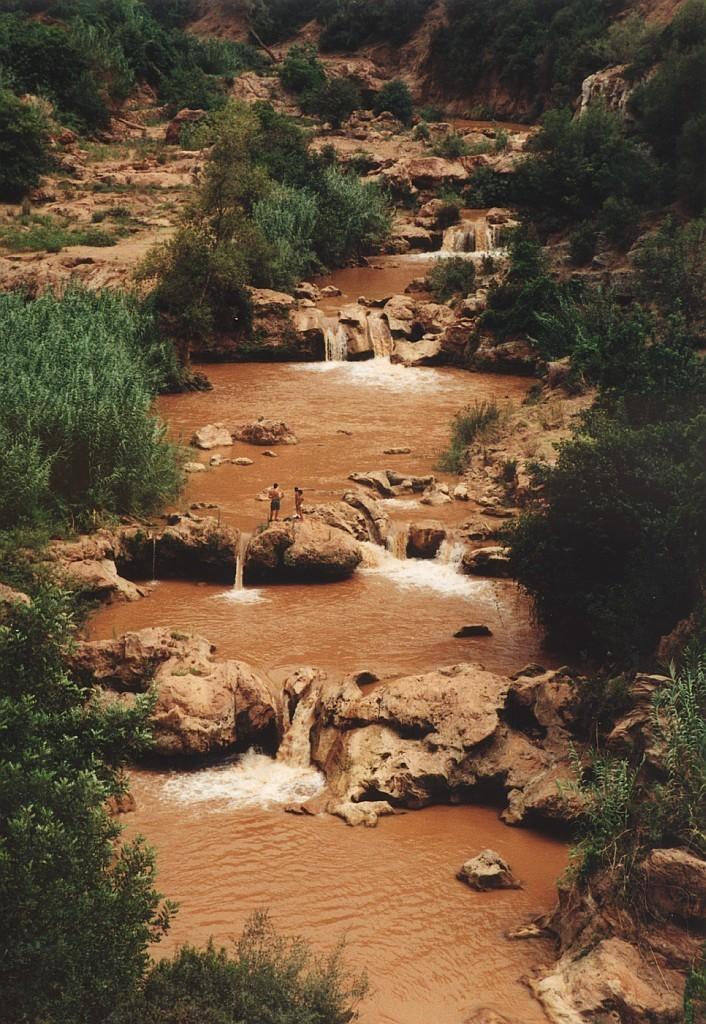Vodopády a laguny Ouzoud a jejich stav po dešti
