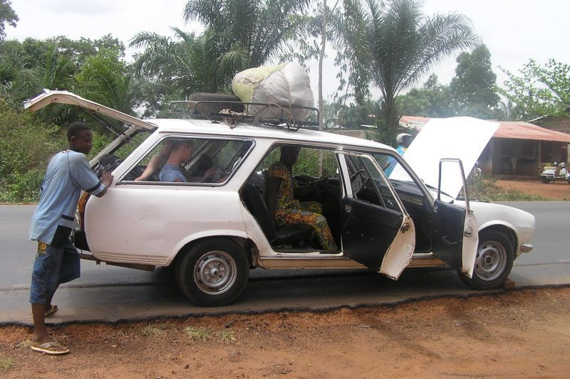 Taxík v Beninu