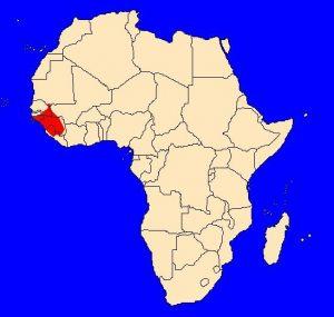 Pavián guinejský (Papio papio) - rozšíření