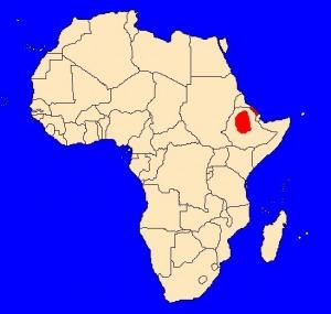 Agapornis etiopský (Agapornis taranta) - rozšíření