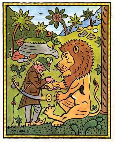 Pastýř a lev - bajka