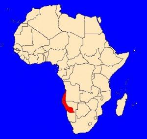 Mapka výskytu papouška hnědého