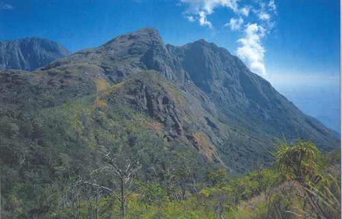 Okrajové svahy horského masívu Mulanje